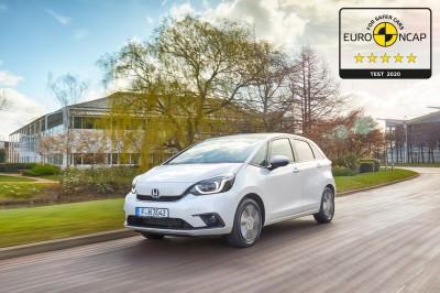 Nowa Honda Jazz e:HEV z najwyższymi ocenami Euro NCAP przeprowadzonych według nowych kryteriów